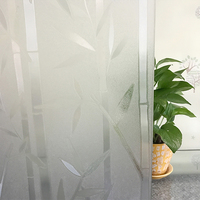 PVC Static Smart Switchable Bamboo Printing Smart Glass window Film