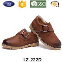 Classical style kid boy pu leather shoe, casual studet shoe, fashion child shoe factory wholesale