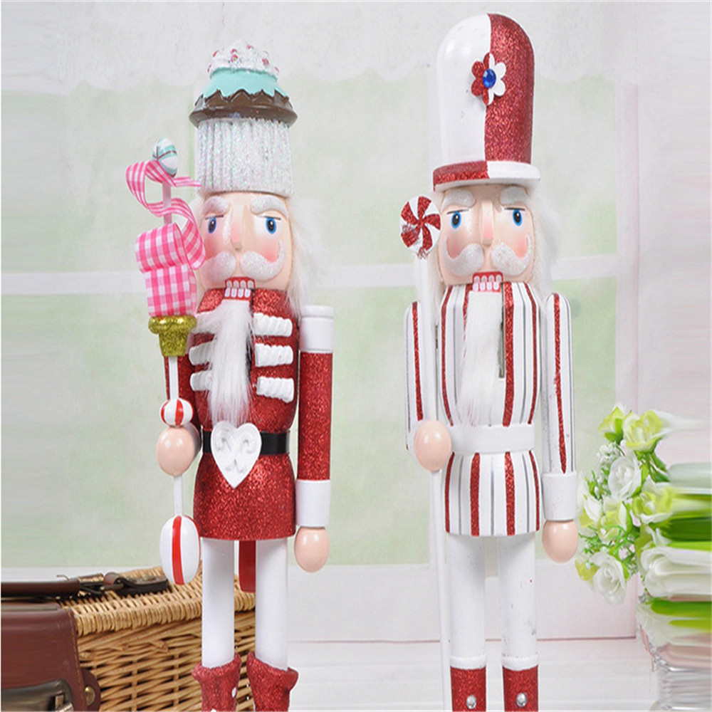 OEM christmas nutcracker soldier with 38CM for Xmas ornament