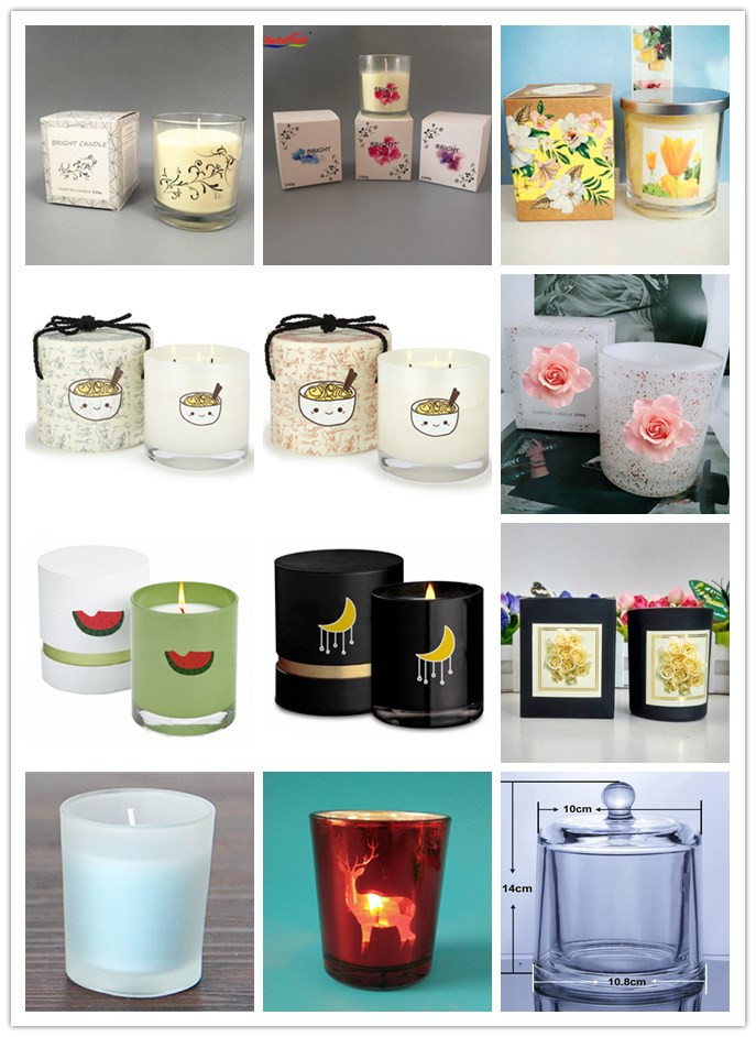OEM Morden  Gift Box Set White  Glass Tumbler Scented Soybean Wax Candle  with Customer Logo