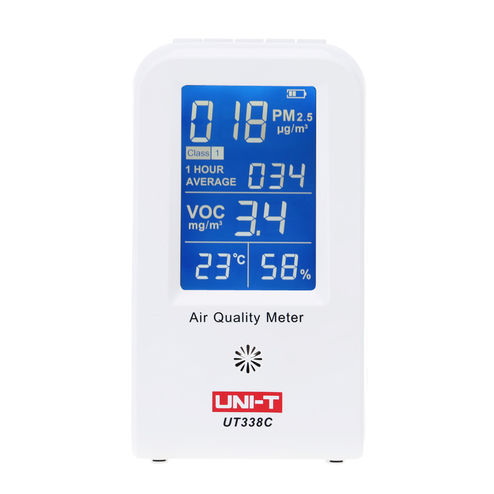 High Precision Gas Analyzers Fine Air Quality Detector Indoor VOC PM2.5 Data Logger Detector Air Monitor Thermometer Hygrometer