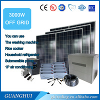 3000W photovoltaic device can load of household solar power systems with air conditioning refrigerator