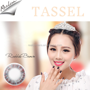 Wholesale cheap cosmetic korea color contact lens Tassel Korean eye contacts colored contact lenses