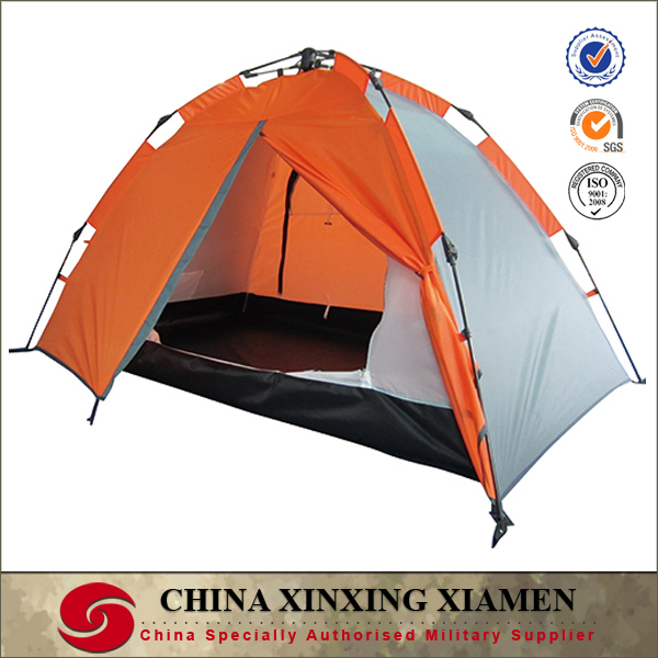 orange popular design two layers 2 person auto fast open tents for camping