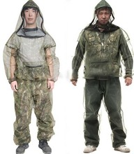 mosquito net jacket with head, Polyester insect net body suits