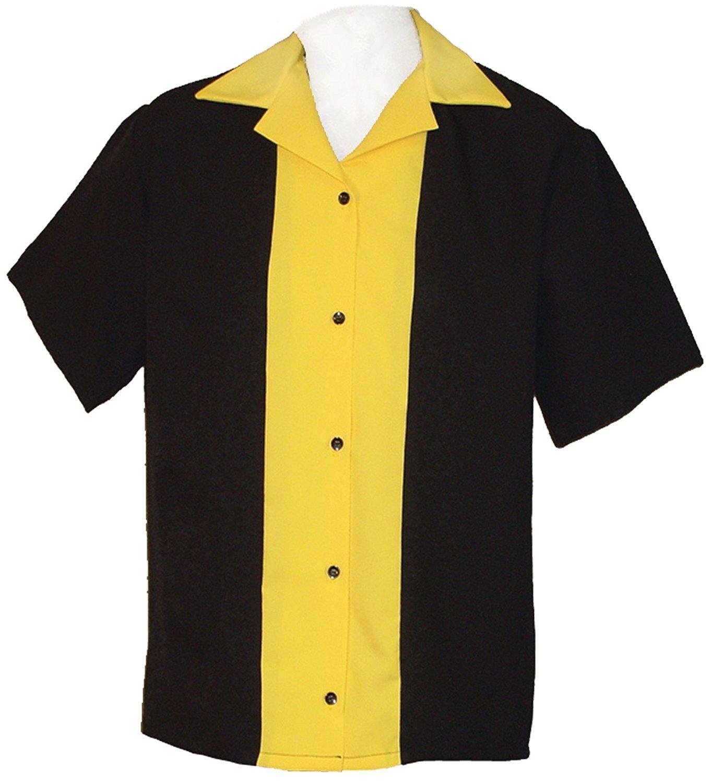 Mens Retro Bowling Shirt 50s Style ~ Classic 57 Mens Bowling Shirts
