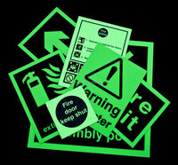 Power Free Photoluminescent glow-in-the-dark Exit Signs,Photoluminescent Fire Escapes Signs Safety way guidance