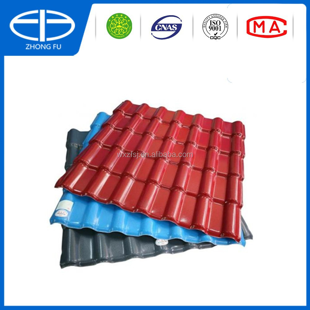 Apvc roofing tile spanish synthetic resin