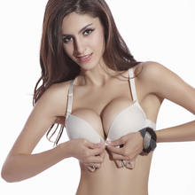 New font b Fashion b font Size Brassiere C Cup Front Closure Sexy Seamless Adjustable push