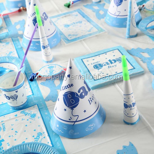 BABY Boy Theme Children's Birthday Party Tableware Pack Kit for 12