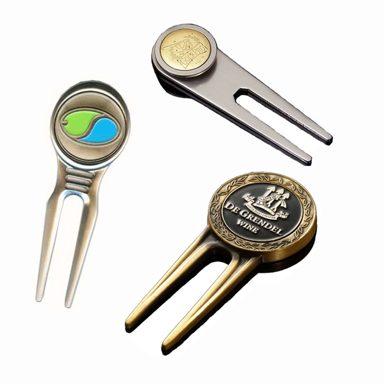 Groove Ball Marker Golf Pitch Stainless Steel Switchblade Tool