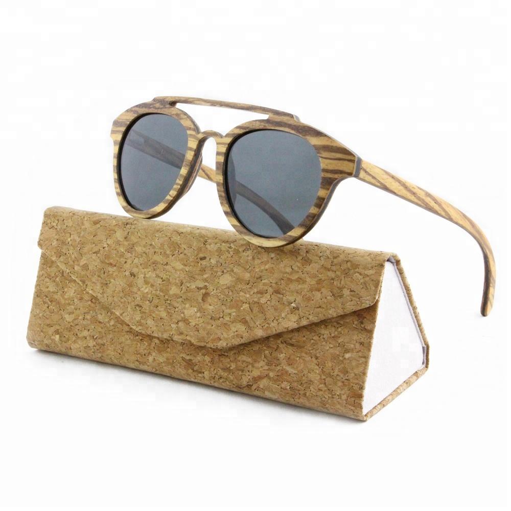 2019 Zebra Bulk Custom Logo Wood Frame Sunglasses China Glasses Engraved Men HD Polarized Wholesale bamboo Wooden Sunglasses, Custom color