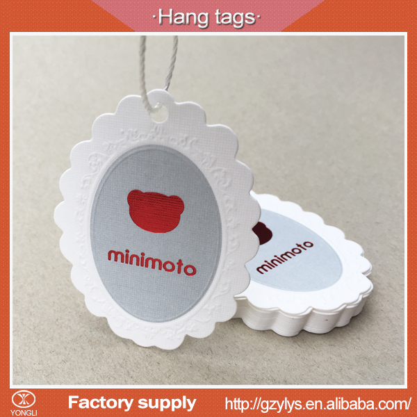 Personalized garment embossing hot stamping hang tag in China