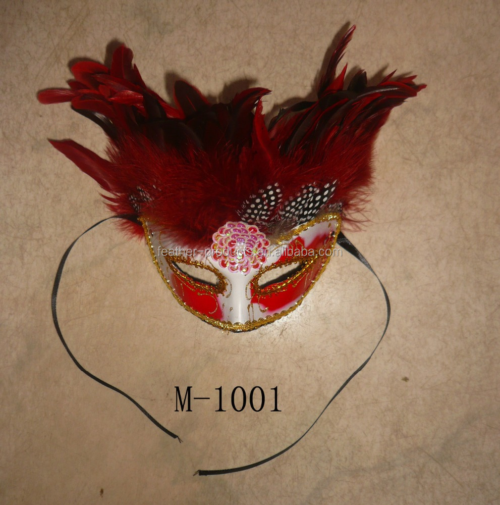 feather party face mask M-1001