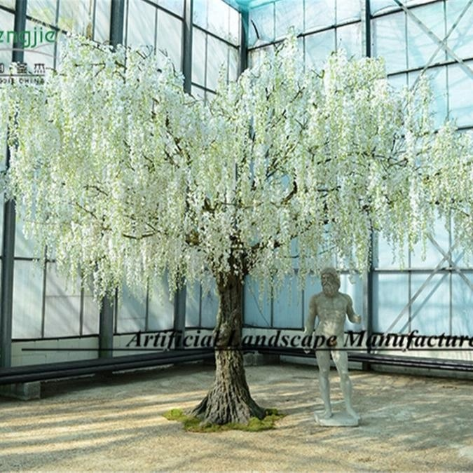 4m White Flower Tree Made In Guangzhou Artificial Flower Tree With