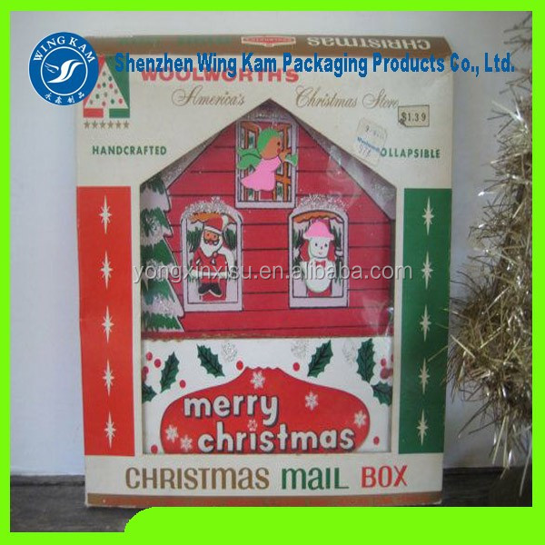 House Shape Paper Box Alibaba Christmas Kid's Gift Packaging