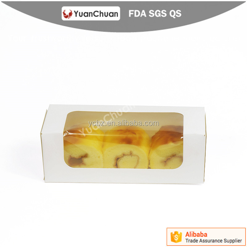 China supplier food grade paperboard take away package for egg tart cookie with window