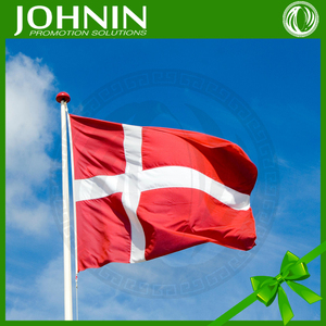 Hot Sales High Quality 3x5ft JOHNIN Red White Cross Denmark Flag