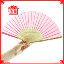 Wedding Custom Silk Like Bamboo Folding Hand Held Fan DZ-06