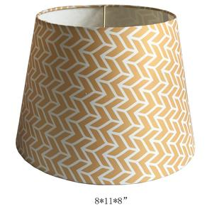 2018 new silkscreen drum printed led lampshades