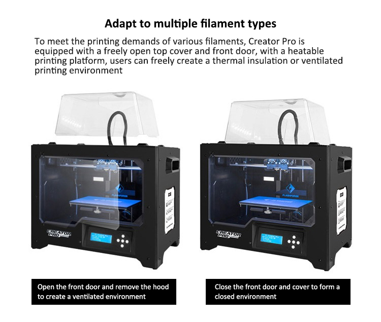 Hot saled 3d printing machine dual extruder metalen frame 3d printer Schepper Pro uit China fabriek