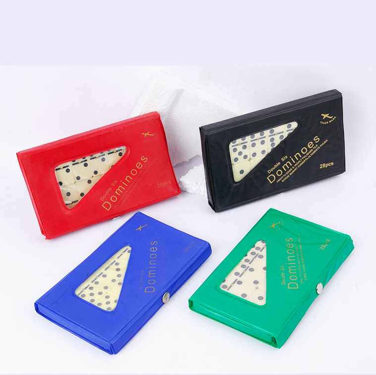 High Quality Factory Price cheap dominoes blocks game set in pvc box