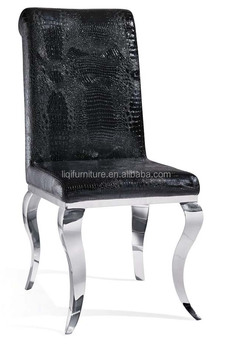 Hotsale Fashion Euro style High Back Stainless Steel Dining Chair QT-D1002A For Home Hotels