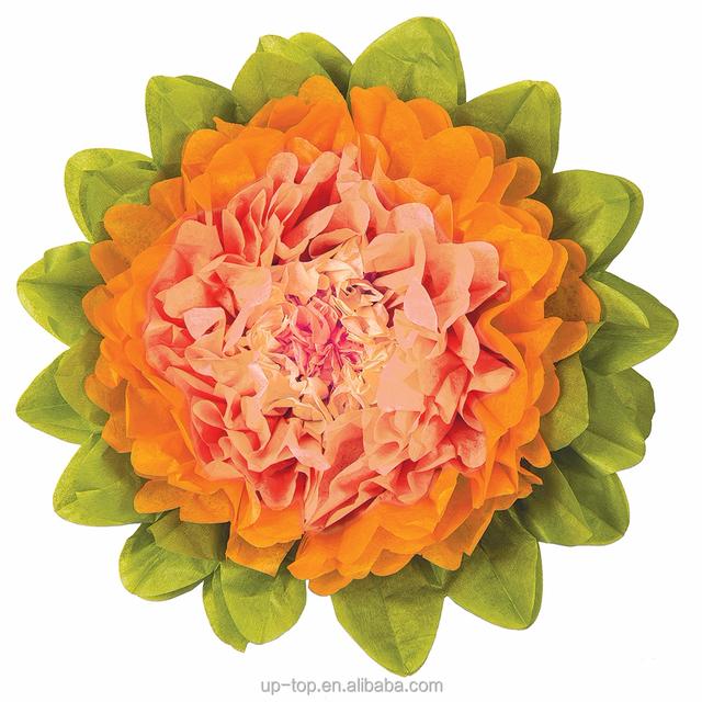 Buy cheap china orange wedding decorations products find china wholesale orange tissue paper flower for wedding decoration junglespirit Gallery