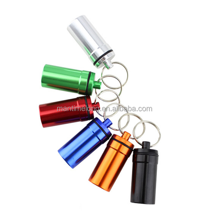 Aluminum Outdoors Waterproof Warehouse Matchbox Portable Waterproof Small Bottle Mini Capsule Travel Storage Sealed Box