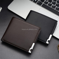 Fashion Young Man Cheap Men's Leather Wallet