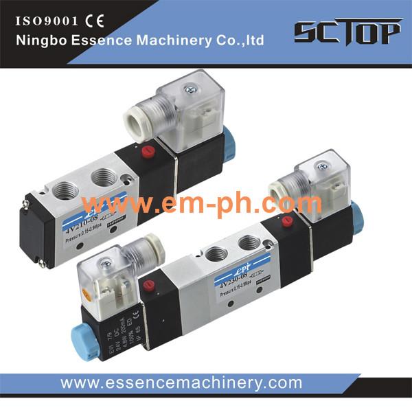 """4V210-08 5 vías 2 Posición Solenoide Válvula de aire neumático único 1//4/"""" BSPT AC220V"""