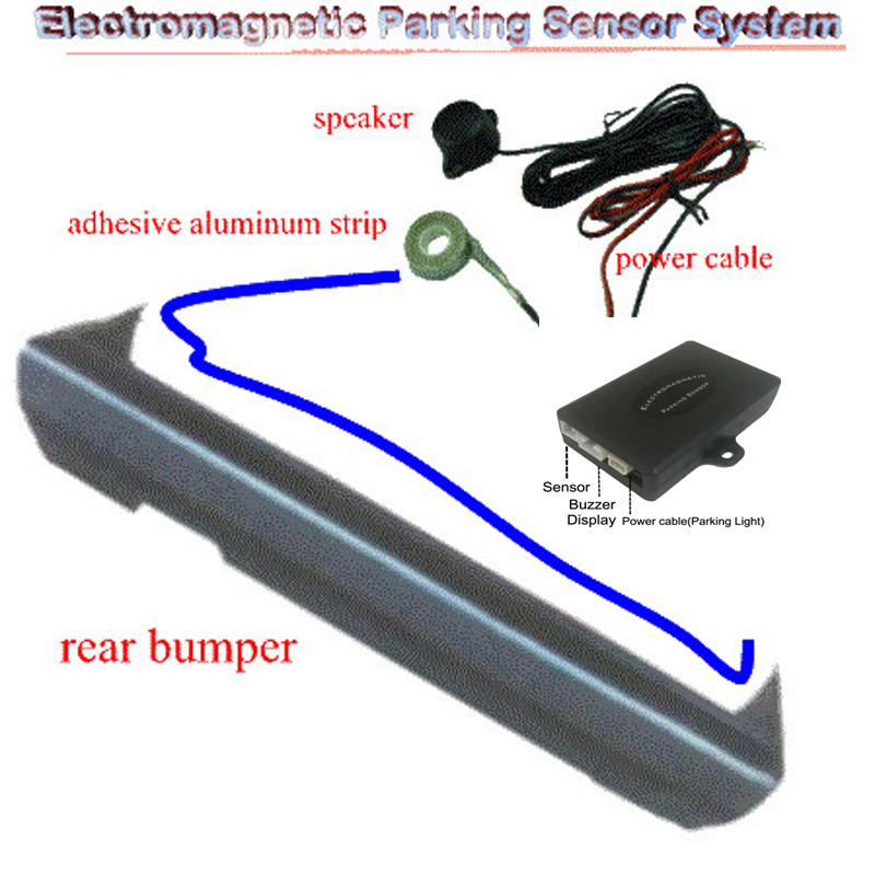 New Car Reverse Backup LED Electromagnetic Parking Sensors System with Led Display And Buzzer. No Holes Need to be Drilled