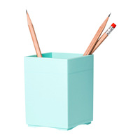 Creative Fashion Candy Square Colorful Plastic Pen Holder Simple Office Supplies Pen Container