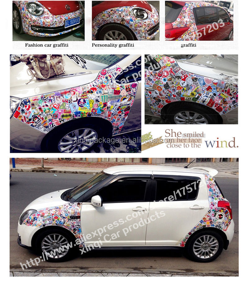 custom printed new design fashion handmade car/bus body sticker design