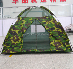 Portable Camouflage Waterproof Oxford Outdoor Camping Tent With Gauze