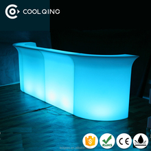 led outdoor furniture Color Changing Rechargeable Led Bar Counter/led home bar counter lighting