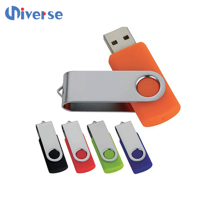 Custom promotional metal swivel usb 1g 2g 4g 16g 32g 64g with free logo