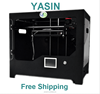 Metal Frame Structure, Acrylic Covers, Dual Extruder, YASIN Creator Pro 3D Printer,Works with ABS and PLA, Led Light Fast S