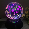 3d glass christmas tree rgb changing magic usb bed light 3w battery table led bulb