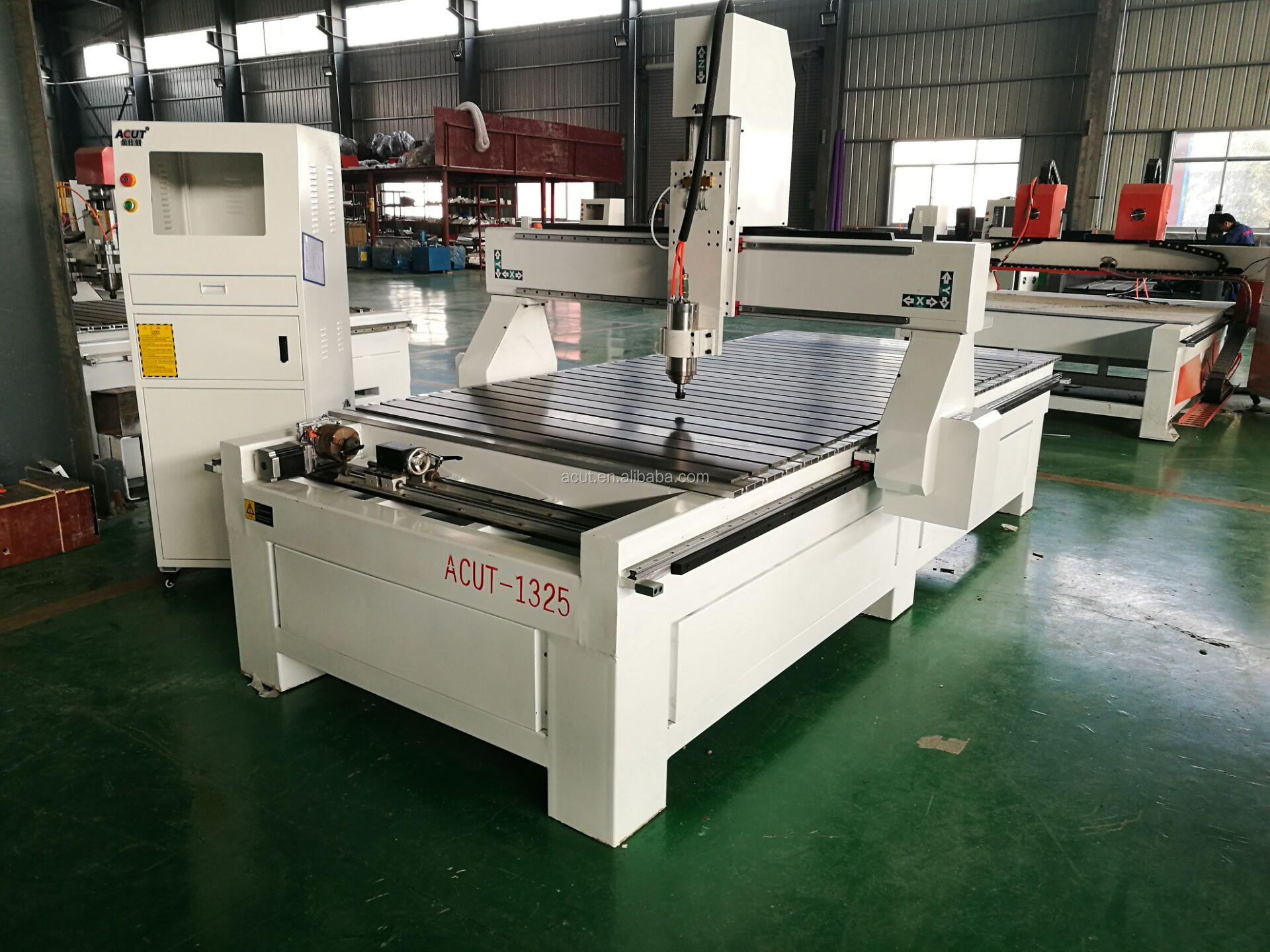 CNC Machine with 3D Rotary Attachement (Dia.: 400mm, Length: 2500mm)