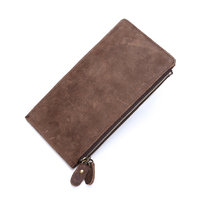 Brand New Retro Multi Header Layer Crazy Horse Vintage Genuine Leather Wallet for Men Many Cards Holder