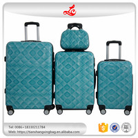 Popular ABS suitcase zipper close 3 pcs with a handbag