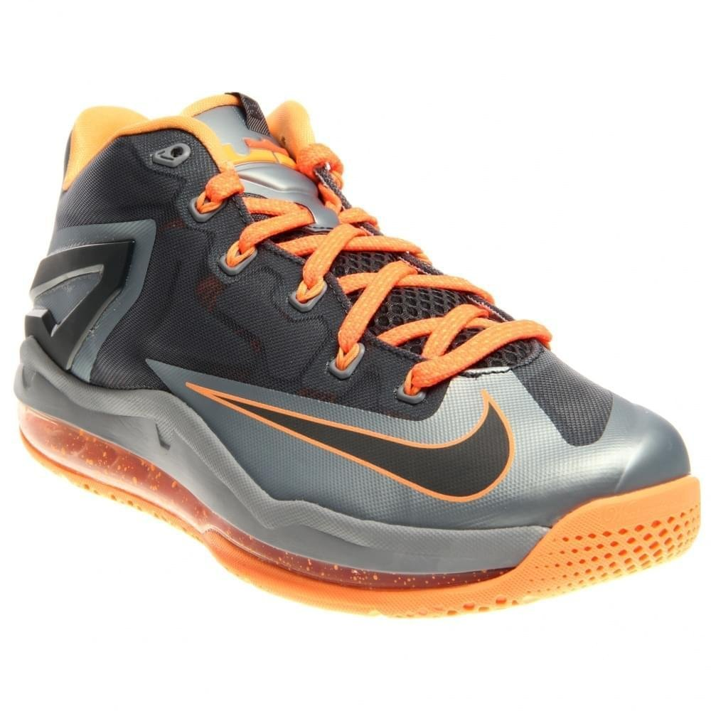 Nike Max Lebron XI Low Men Sneakers Light Magnet Grey/Magnet Grey/Bright Mango/Dark Grey 642849-002 (SIZE: 11.5)