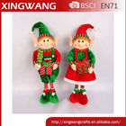 24 inch scalable velvet fabric christmas elf doll standing with gift bag