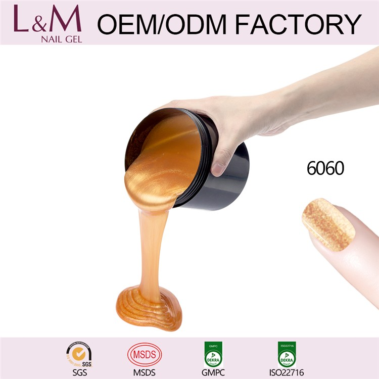 China wholesale nail supplies L&M Color Gel One Step Nail Gel Polish