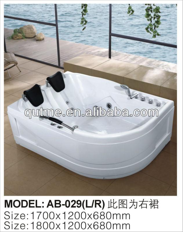 Double Bathtub Twin Whirlpool Massage Camping Bathtub For Lovers ...