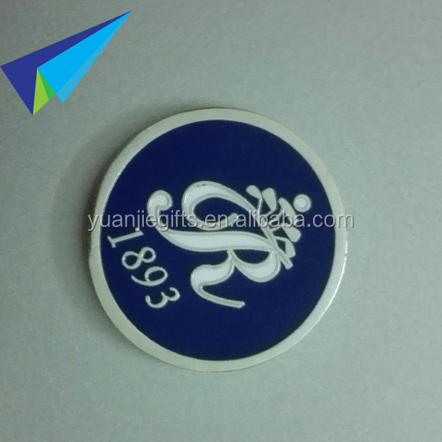 2016 high quality hard enamel metal golf ball markers