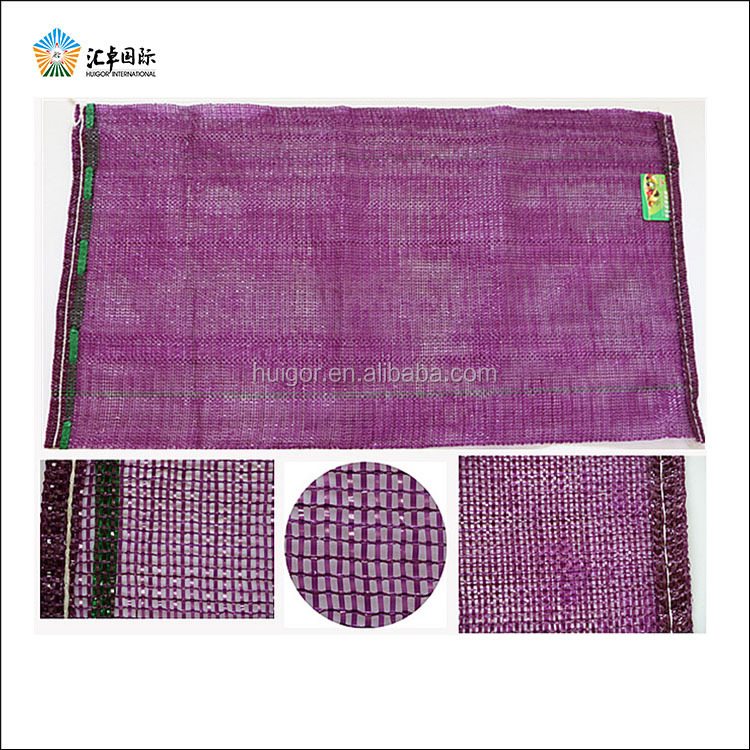 Custom drawstring red onion potato mesh bags packing with pp pe material