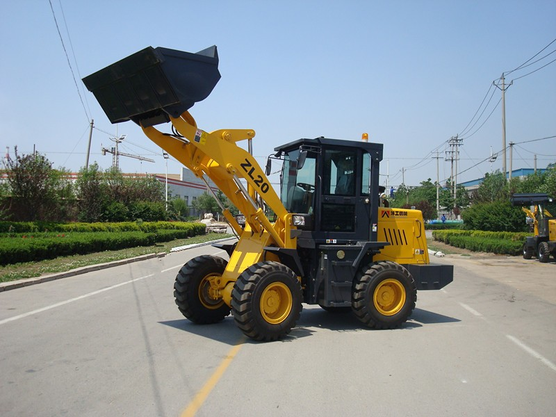 2.0ton small loader with joystick ce/small front end loaders ZL20 ZL920 ZL20F/forklift wheel loader ZL18/electric wheel loader
