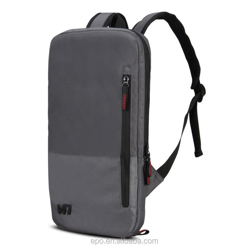Grey polyester laptop bag,men's backpack bags,ultra slim computer ...